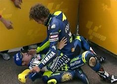 "Colin Edwards MotoGP   Rossi: ""you were right, just follow you and I'll get on the podium.  I owe you a Steak  """
