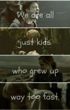 Harry Potter - Ron Weasley - Hermione Granger - Draco Malfoy - We're all just kids who grew up too fast. Rowling's relatable writing is amazing. Arte Do Harry Potter, Harry James Potter, Harry Potter Jokes, Harry Potter Pictures, Harry Potter Universal, Harry Potter Characters, Harry Potter Fandom, Harry Potter World, Ron Weasley