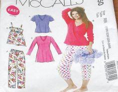 McCall's 6250 Lounge Set Camisole Top Pajamas PJs by SewBohemian, $8.00