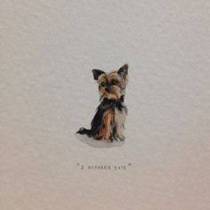 Here's a tiny painting of a tiny Yorkshire Terrier for you, @taylor2209 !