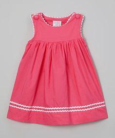 Look at this #zulilyfind! Hot Pink Jumper - Infant & Toddler by Smocked or Not #zulilyfinds