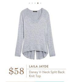 Stitch Fix Laila Jayde Daney V-Neck Back Knit Top...LOVE