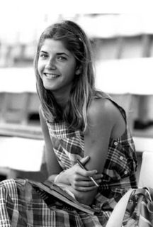 """""""I found this photograph online of a young Candace Bushnell, author of Sex and the City. It inspired me to make the costumes a bit more '70s-inspired, East Coast-appropriate and not so New York over-the-top. In the suburban areas the '80s were still very preppy, very WASP-y."""""""