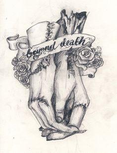 beyond death by koffinkandy on DeviantArt – Tattoo Sketches & Tattoo Drawings Art Drawings Sketches, Tattoo Drawings, Body Art Tattoos, Dark Art Tattoo, Tatoos, Hase Tattoos, Los Muertos Tattoo, Aquarell Tattoo, Bild Tattoos
