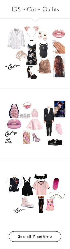 """""""JDS ~ Cat ~ Outfits"""" by bts-obsessed on Polyvore featuring Mode, WithChic, Full Tilt, Banana Republic, Steve Madden, nooki design, Alexis Bittar, Effy Jewelry, Lime Crime und Alyce Paris"""