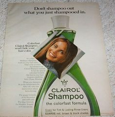 1970 vintage ad page - Clairol hair colorfast Shampoo CUTE GIRL print ADVERT  | eBay