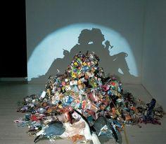 Creative trash art #fun #art #creative