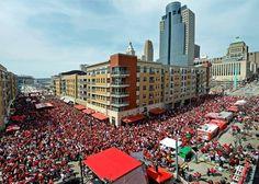 "Wow, great shot! ""Cincinnati Reds Opening Day!"""