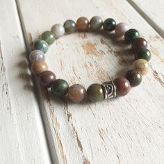 Genuine Fancy Jasper w/ a Sterling Silver Charm Bracelet ~ Wholeness & Tranquility
