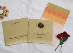 Indian Wedding Invitation Cards, Wedding Invitation Card Design, Wedding Invitations Online, Wedding Stationery, Prints, Wedding Invitations, Wedding Invitation