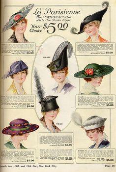 Fashion illustration vintage illustrators hats for 2019 Retro Mode, Mode Vintage, Edwardian Fashion, Vintage Fashion, Edwardian Style, Vintage Dresses, Vintage Outfits, Vintage Clothing, Fashion Illustration Vintage