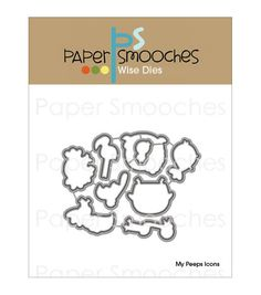 Paper Smooches Wise Die-My Peeps Icons