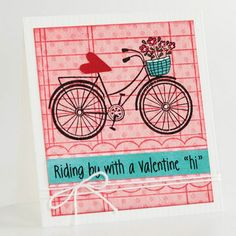 "Riding by with a valentines ""hi"""