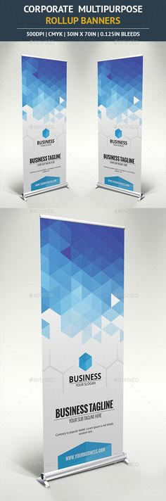 Buy Corporate Rollup Banner by ilibart on GraphicRiver. Attract people to your business with this beautiful Multipurpose Outdoor Banner Signage suitable for any business! Rollup Design, Rollup Banner Design, Signage Design, Brochure Design, Brochure Template, Banner Template, Pop Up Banner, Ads Banner, Banner Ideas