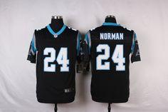 Men's Nike Carolina Panthers #24 Josh Norman Black Elite Jersey