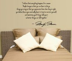 Marilyn Monroe Wall Decal Decor Quote I Believe things happen...
