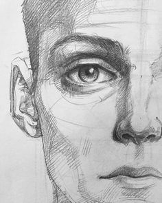 Ideas For Eye Drawing Tutorial Watercolor Pencil Art Drawings, Realistic Drawings, Drawing Sketches, Sketching, Eye Drawings, Realistic Eye, Drawing Drawing, Drawing Faces, Portrait Draw
