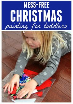 Toddler Approved!: Mess-Free Christmas Painting