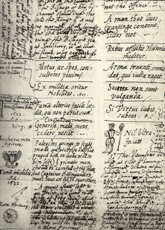 Page from Milton's commonplace book.