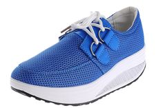 Women's High quality Leather Slip-On Platform Shoes Height-increasing Fitness Work Out Running Sneakers *** Visit the image link more details.