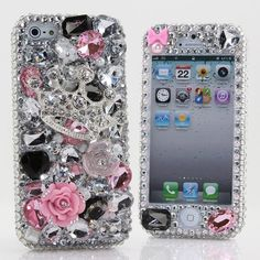 Black Friday BlingAngels® 3D Luxury Bling iphone 5C Case Cover Faceplate Swarovski Crystals Diamond Sparkle bedazzled jeweled Design Front