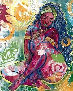 Exceptional Drawing The Human Figure Ideas. Staggering Drawing The Human Figure Ideas. Black Love Art, Black Girl Art, Art Afro Au Naturel, Graffiti Kunst, Arte Black, Afrique Art, Black Art Pictures, Black Artwork, Illustration