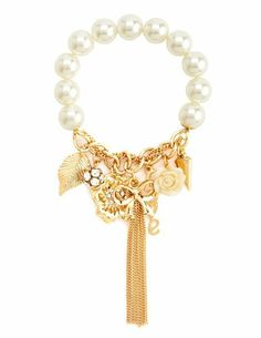 Love Script Charm Bracelet: Charlotte Russe
