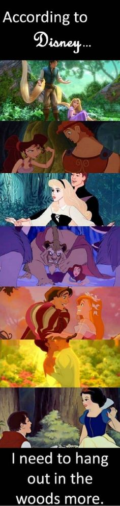 hahaha I love that my school was in the woods :) Disney has it right <3