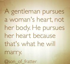 A gentleman will
