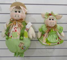 PUXA-SACO Porquinho / PORTA PANO DE PRATO Porquinha <br> <br> Produzido em tecido 100% algod�o em padr�o aleat�rio, conforme disponibilidade do mercado.