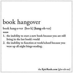 book hangover (n)