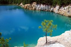 blue hole I - Zavalla, TX / old rock quarry turned swimming hole - thats the real color (been here, but it has since been filled in and closed)