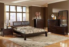 Shop Danika Contemporary Ebony Wood Platform Master Bedroom Set with great price, The Classy Home Furniture has the best selection of to choose from Brown Furniture Bedroom, Galleria Furniture, Home, Dining Room Table Set, Beautiful Bedroom Set, Furniture, Bedroom Furniture, Master Bedroom Set, Remodel Bedroom