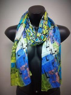 silk scarf by Cynthia Rowley