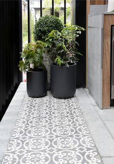 Tiles Cluster of pot plants l Outdoor terrace l Patterned outdoor tiles Tile Patio Table, Porch Tile, Patio Tiles, Outdoor Tiles Patio, Terrace Tiles, Garden Tiles, Balcony Tiles, Outdoor Pots, Outdoor Gardens