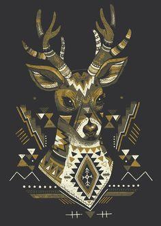 Sender - JULIA SONMI HEGLUND | sonmisonmi.com #illustration #deer