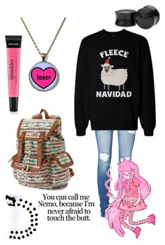 """(I am an impatient loser)"" by cloud-ouo ❤ liked on Polyvore featuring Mudd, Vero Moda and philosophy"