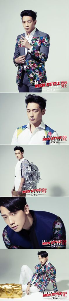 [images] More of Rain styling in MCM fashion for Harper's BAZAAR Men Style Magazine.
