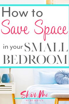 8 Easy Ways to Maximize Space in a Small Bedroom I needed some tips and ideas for how to save space in my small bedroom. This article gave me so much info on tiny bedroom storage and organization hacks! It helped me maximize the space in my room. Tiny Bedroom Storage, Small Space Bedroom, Small Room Design, Storage Spaces, Storage Ideas, Under Bed Organization, Small Bedroom Organization, Organization Hacks, Clean Bedroom