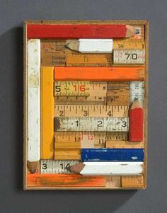 Recycling Old Wood Rulers For Interior Decorating, 12 DIY Wall Decor And  Furniture Decoration Ideas