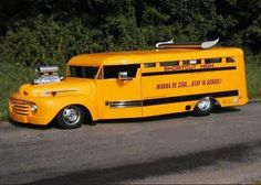 I never rode a School Bus that looked like this!