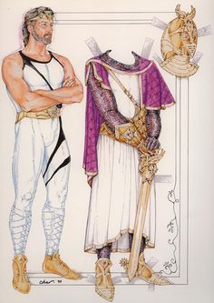 Camelot - King Arthur - These would have been fun paper dolls to have, eh? Gotta check out the rest of the paper dolls on this board, too.