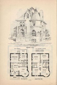 Artistic city houses, no. 43 – Would need a few changes but I really like it. Artistic city houses, no. 43 – Would need a few changes but I really like it. Victorian House Plans, Vintage House Plans, Antique House, Victorian Homes, Gothic House, Victorian Gothic, Storybook Homes, House Blueprints, Victorian Architecture