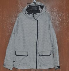 COLUMBIA Sportswear capuche Parka Indie Mods Grunge Style Veste Impermeable Vintage années 90 féminine