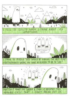 The sad ghost club Illustrations, Illustration Art, Ghost Comic, Tableaux D'inspiration, Feeling Sad, Ghost Stories, Pics Art, Sad Quotes, Life Quotes