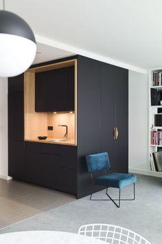 Kitchen Room Design, Modern Kitchen Design, Interior Design Kitchen, Küchen Design, House Design, Compact Kitchen, Cuisines Design, Lofts, Home Kitchens