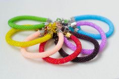 Bracelets with Shining Seed Beads