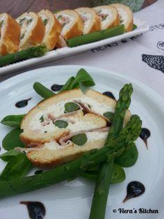 Frischkäse Roulade mit Spargel