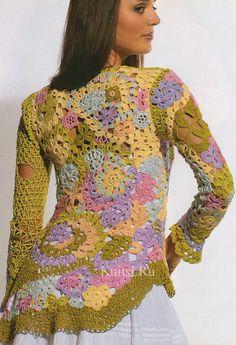Красиво и осуществимо: пуловер крючком в технике сцепного кружева. Комментарии : LiveInternet - Российский Сервис Онлайн-Дневников