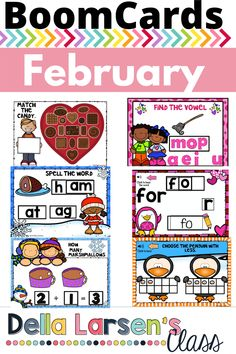 This February NO PREP Packet is filled with Boom Cards to fill your math and word work centers all month. Celebrate Valentine's Day in a digital way! This resource includes 7 Boom Decks. Building Sight words, blending onset rimes, identifying vowel sound, addition, comparing numbers using ten frames, sorting nonsense words and real words, and matching shapes. Make sure to click the links in the preview to give it a try. M Learning, Interactive Learning, Nonsense Words, Sight Words, Matching Shapes, Word Work Centers, Comparing Numbers, Vowel Sounds, Ten Frames